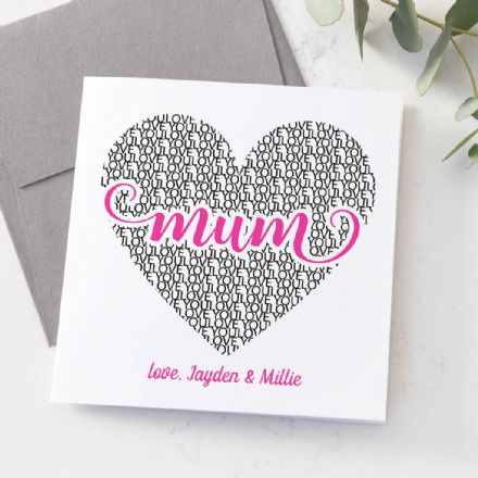 Personalised Love Mum Card
